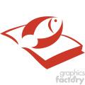 fishing book vector icon