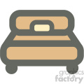 bedroom bed furniture icon