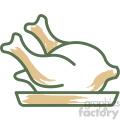 chicken food vector flat icon design