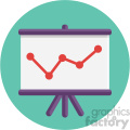chart circle background vector flat icon