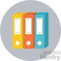 data circle background vector flat icon