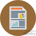 profit and loss circle background vector flat icon