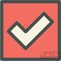 red box checkmark chat vector icon