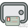 credit card safe vector icon