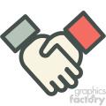 handshake agreement vector icon