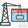 under construction website hosting vector icons