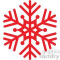 red snowflake rf clip art