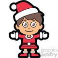 guy dressed in santa claus suit vector clip art