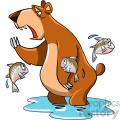 tired bear cartoon character