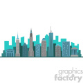 new york city skyline flat vector design