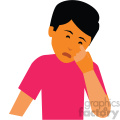 sick person vector clipart