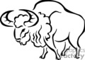 buffalo buffaloes   anmls005b_bw clip art animals
