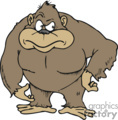 Brown gorilla with a mad face