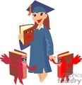 graduation school student students   1004graduation050 clip art education graduation  gif, jpg