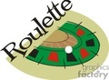 cartoon roulette table