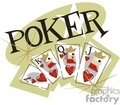 Texas Holdem poker cards