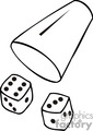 gambling casino casinos las vegas dice craps   lv035-b clip art entertainment las vegas  gif, jpg
