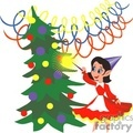 elf using her wand to decorate the christmas tree gif, jpg