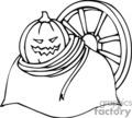 halloween pumpkin pumpkins   spel197_bw clip art holidays halloween  gif