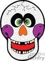 Happy skull face