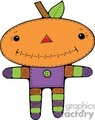 Cute little pumpkin character vector clip art image