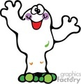halloween halloweens scary ghost ghosts   ghost013_prc clip art holidays halloween ghosts  gif, jpg, eps