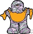 Funny mummy holding a big bag of candy