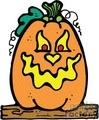 halloween halloweens scary pumpkin pumpkins   pumpkin007_prc clip art holidays halloween pumpkins  gif, jpg, eps
