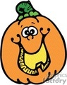 Happy cartoon pumpkin