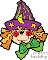 cute little girl wearing a purple witches hat