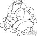 Spel187_bw vector clip art image