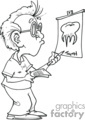 coloring page of dentist