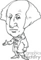 president presidents american political cartoon funny people george washington 1st   pres1_george_washington_bw clip art people government  gif