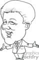 president presidents american political cartoon funny people 42nd bill clinton   pres42_bil_clinton_bw clip art people government  gif