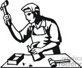 black and white outline of a shoemaker gif, jpg