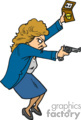 pi private investigator detective police clues searching crime guns women freeze   private008_color clip art people police-firemen  gif