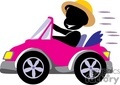 person driving a pink convertible car gif, jpg, eps