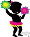 shadow people silhouette working work humans cheerleader cheerleaders cheerleading high school female pom poms   people-221 clip art people shadow people