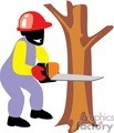 man cutting a tree with a chainsaw gif, jpg, eps