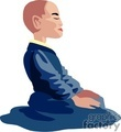 religion religious pray praying buddha meditating monk monks   religion012yy clip art religion
