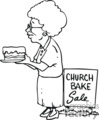 black white women at a church bake sale