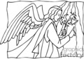 christian religion religious angel angels lds   christian_ss_bw_107 clip art religion christian  gif