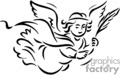christian religion religious angel angels lds   christian_ss_bw_167 clip art religion christian  gif