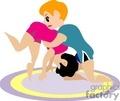 two people wrestling  gif, jpg