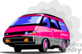 car cars auto transportation autos van vans minivan   transport_04_007 clip art transportation land