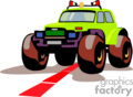 heavy equipment construction truck trucks monster rock crawler crawlers 4x4   transport_04_069 clip art transportation land  gif