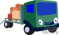 heavy equipment construction truck trucks flatbed   transport_04_114 clip art transportation land  gif