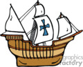 country style pirate pirates ship ships iron cross boat boats   ship006pr_c clip art transportation water