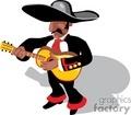 cinco de mayo mariachi man playing guitar