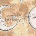 seamless tiled moon background